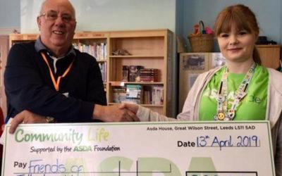 Asda kindly donates funds to Tottington Centre